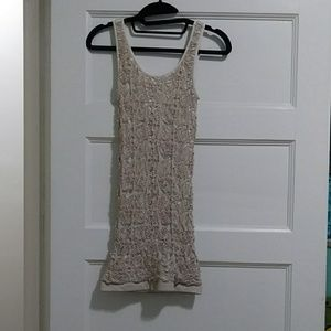 Cream/white mini slim fit dress by Bebe. Small.